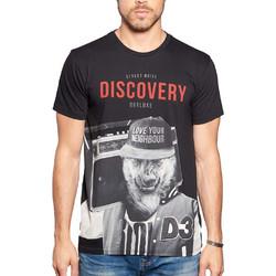 ee5eff0f8661 Ανδρικό Κοντομάνικη Μπλούζα T-Shirt DEELUXE74 DISCOVERY W18192BLA Μαύρο