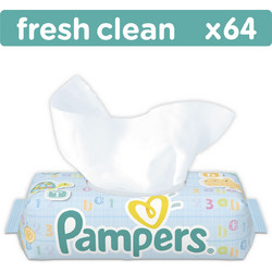 Pampers Fresh Clean 64τμχ