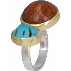 Χειροποίητο δαχτυλίδι 925 με ορυκτές πέτρες 020910 020910 Ασήμι c0d539b16a0