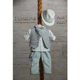 e2e37fca6e5 Βαπτιστικό σετ ρούχα για αγόρι AG19S17 PAOLO KHAKI ,Piccolino