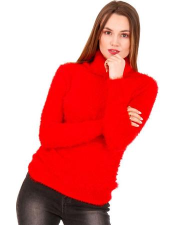 f998af3e8e9f Κόκκινη Πλεκτή - Γούνινη Μπλούζα Ζιβάγκο Κόκκινο Silia D