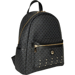 346bdc1b72 Σακίδιο Πλάτης Με Τρουκς La Tour Eiffel Logo-Δέρμα Backpack L 142030 Μαύρο