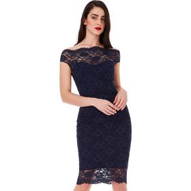 b7a2332b2d15 cocktail φόρεμα bardot fine navy lace