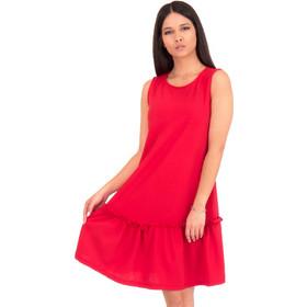 0c34594d828b Κόκκινο Mini Φόρεμα με Βολάν Κόκκινο Silia D