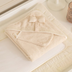 FunnaBaby Μπουρνούζι - κάπα   γάντι μπάνιου Premium Cream 09d4cd597da
