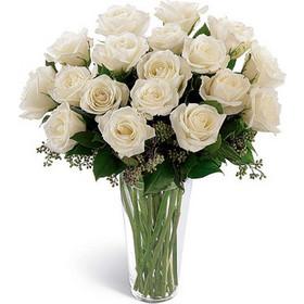 5c98192e3f53 Λευκό κύμα Ανθοδέσμη με είκοσι άσπρα τριαντάφυλλα