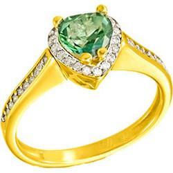 Χρυσό μονόπετρο δαχτυλίδι Κ14 με ορυκτή πέτρα SWAROVSKI DF674-OR19 505596463da