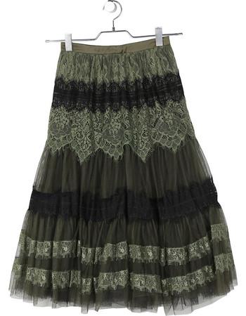 Φούστα με τούλι και δαντέλα FRACOMINA 82fbe131554