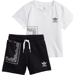 49979661f4af adidas Originals BANDANA TEE SET DW3855 Λευκό-Μαυρο