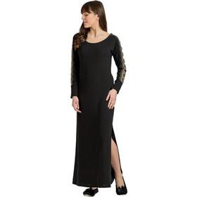 24b3669cf1cd Jeannette Γυναικείο Καφτάνι Homewear Maxi Μαύρο