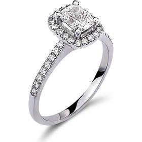 Μονόπετρο δαχτυλίδι σε halo ring γραμμή απο λευκόχρυσο 18 καρατίων με κεντρικό  διαμάντι 0.55ct πιστοποιημένο απο το GIA και μικρότερα διαμάντια περιμετρικά  ... 50347330226