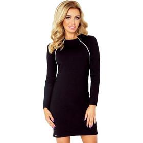 8de30e6138cd 70055 NU Μίνι φόρεμα με μακριά μανίκια και 2 φερμουάρ - μαύρο