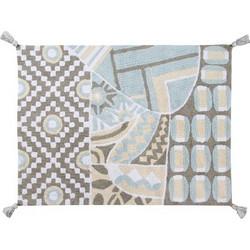36e16cf2a0e Lorena Canals χειροποίητο πλενόμενο στο πλυντήριο παιδικό χαλί - Επετειακό  Indian Bag Grey-Blue C