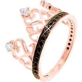 Δαχτυλίδι κορώνα από ροζ χρυσό Κ14 με ζιργκόν DF582A c493a692092