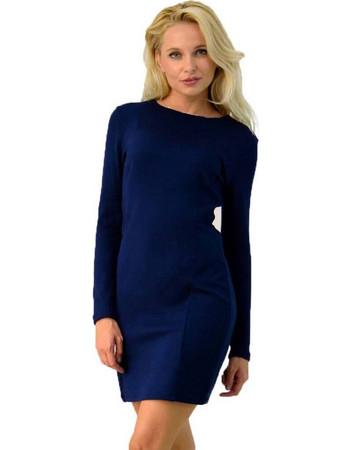 Πλεκτό φόρεμα με μακρύ μανίκι 6cb38748e7b