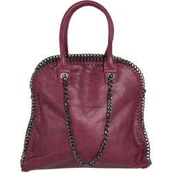 d3bfead97b Γυναικεία μονόχρωμη τσάντα ώμου μπορντό δερματίνη 2902B18128H