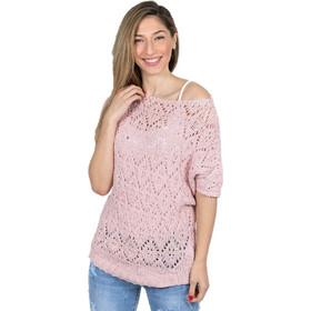 a576107d0123 Πλεκτή μπλούζα ελαστική βαμβακερή Ροζ - Ροζ
