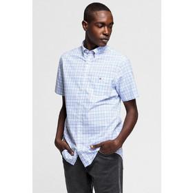 9a5d9bb2897b Gant ανδρικό πουκάμισο καρό κοντομάνικο Broadcloth - 3046851 - Μπλε