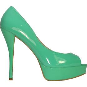 ILoveMyShoes Z9559 Γυναικείες Γόβες Peep-toe Λουστρίνι Πράσινο ILoveMyShoes  Z9559 green 71aa75434b2