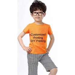 371dee3f23c Children Cotton Round Neck Short Sleeve Solid Color Advertising T-shirt,  (Receive Pictures