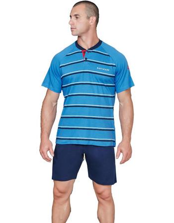 Ανδρική καλοκαιρινή πιτζάμα ως 2XL μπλε κομπάλτ NAVIGARE NAVIGARE aa861ed01d0