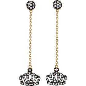 Σκουλαρίκια κρεμαστά Vogue χρυσό ασήμι 925 με κορώνα 986128.1 22c5c2856ce