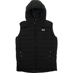 ad1cb8a4e9b Basehit Hooded Fake Down Quilted Vest Jacket 182.BM10.230-Black