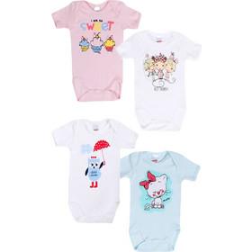 Minerva Φορμάκι Baby Κορίτσι Κοντό Μανίκι So Sweet - Τετράδα Πολύχρωμο ce4f6e7c3e4