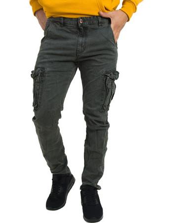 Ανδρικό γκρι υφασμάτινο παντελόνι πλαϊνές τσέπες 8088W b3d79e2c03f
