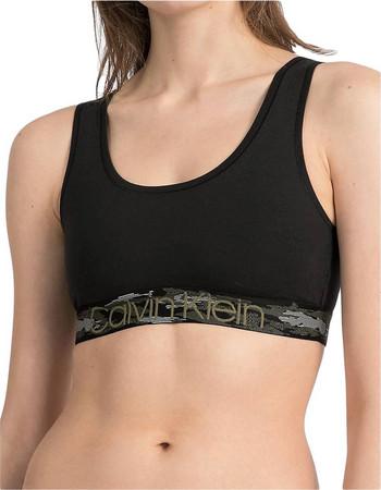 Calvin Klein Γυναικείο Μπουστάκι Camo Black Unlined Bralette Μαύρο faa13f2f379
