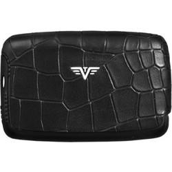 96a9b22b3c TRU VIRTU Card Case Hi-Tech Πορτοφόλι αλουμινίου (Leather - Croco Black  Tassel)