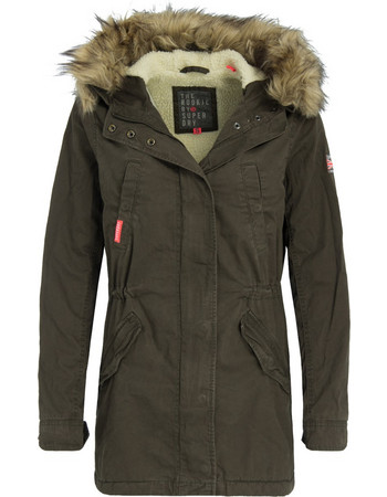 SUPERDRY ADULTS HEAVY WEATHER ROOKIE FISHTAIL PARKA ΜΠΟΥΦΑΝ ΓΥΝΑΙΚΕΙΟ  G50018TP-BE3 b8bbdc47b37