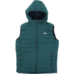 08498a1eb1a Basehit Hooded Fake Down Quilted Vest Jacket 182.BM10.230-Forest