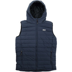 ce0a7cae5ea Basehit Hooded Fake Down Quilted Vest Jacket 182.BM10.230-Navy