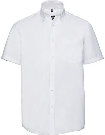 19c5d79151eb Ανδρικό κοντομάνικο πουκάμισο Non-iron Russell R-957M-0 - White