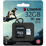 Kingston 32GB microSDHC Action Camera UHS-I U3 Class 10 + Adapter