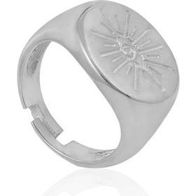 Ασημένιο Δαχτυλίδι Σεβαλιέ με Λαμπερό Μάτι σε Μοντέρνο σχέδιο στην Πρόσοψη ac6a9b1d270