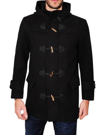 Ανδρικό παλτό MONTGOMERY - Μαύρο 739118cb67c
