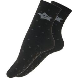 Αντιολισθητική γυναικεία βαμβακερή κάλτσα Μαύρο-Γκρι d0b89d23ca2