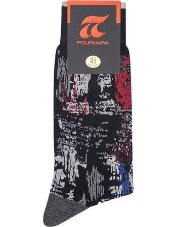 ΠΟΥΡΝΑΡΑ Πουρνάρα Ανδρικές Κάλτσες Σχέδιο Abstract Μαύρο 6f18d78cddc