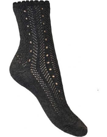 Γυναικεία δαντελένια βαμβακερή κάλτσα Μαύρο CIOCCA CIOCCA ae1e295e799