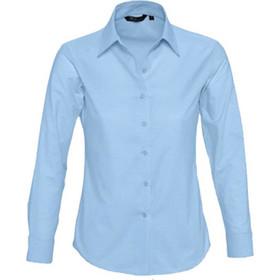 b3bd9db447ab Γυναικείο μακρυμάνικο πουκάμισο oxford Sol s Embassy Γαλάζιο-220