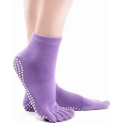 Αντιολισθητικές μονόχρωμες κάλτσες ιδανικές για yoga - Μωβ - OEM 51196 f4089822fb0