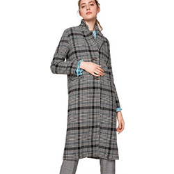 219a9d92325 Pepe Jeans γυναικείο μακρύ καρό παλτό Fanny - PL401530 - Πολύχρωμο