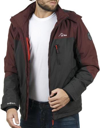 b208411f0e15 Ανδρικό Μπουφάν Jacket με Κουκούλα ICE TECH G611 Γκρι-Cherry