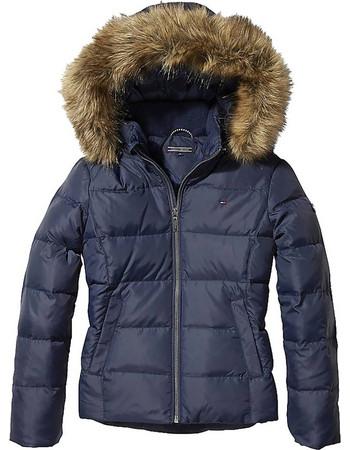 afb5bb3c312 Tommy Jeans Kid's Jacket With Faux Fur Trim Hood KG0KG03958-002