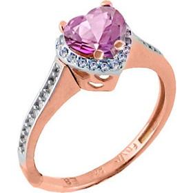 Μονόπετρο δαχτυλίδι από ροζ χρυσό Κ14 με ορυκτή πέτρα SWAROVSKI DF674-OR10 2847c821e6d