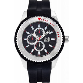 Visetti Cruiser Black Silicone Strap ZE-666SB b5125a1887c
