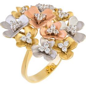 Δαχτυλίδι με λουλούδια από λευκό cd00622f597