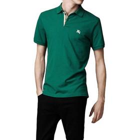 86a2bcb89424 Burberry Ανδρική Πόλο Polo Μπλούζα Brit με κουμπιά σε Σκούρο Πράσινο χρώμα